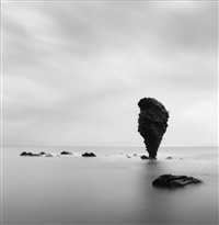 rock formations, study 2, yoichi, hokkaido, japan, 2004 by michael kenna