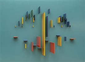 structurist relief, red wing number 1 by charles joseph biederman