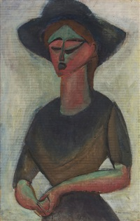 soloist at wanamaker's by max weber