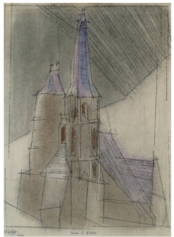 the towers of saint blaise by lyonel feininger