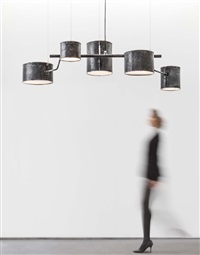 hanging atomic lamp by atelier van lieshout