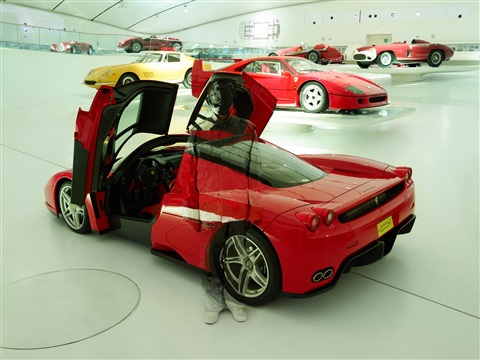 innovation. ferrari enzo by liu bolin