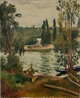 bords de seine à villennes by albert marquet