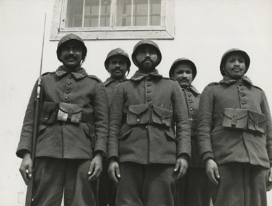 algerian engineers of the pioneer garrison commanded by officers of the french expeditionary force by margaret bourke white