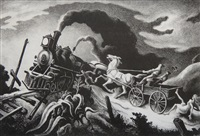 wreck of the ol' 97 by thomas hart benton