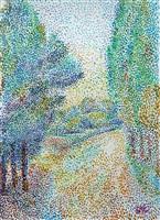 ruelle bordée d'arbres by hippolyte petitjean