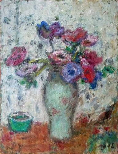 bouquet d'anémones by georges d'espagnat