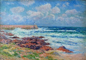le port d'audierne by henry moret