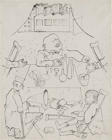 der dank des vaterlandes ist euch gewiss (you can be certain of the gratitude of the fatherland) by george grosz
