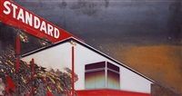 burning standard, after ruscha (from pictures of cars) by vik muniz
