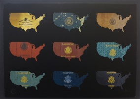 passport map usa by yanko tihov