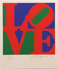 love (green red purple) by robert indiana
