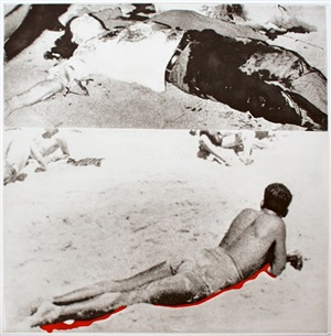 two figures (one with shadow) by john baldessari