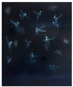 ross bleckner black, bird, brain by ross bleckner