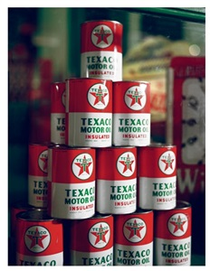 texaco motor oil display 1958 by mcdermott mcgough