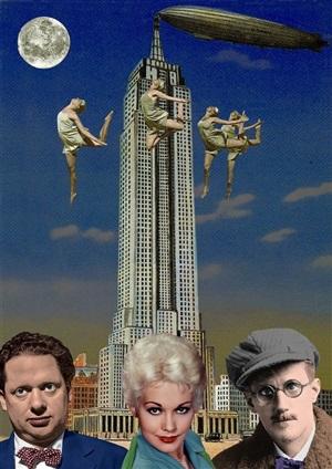 dylan thomas, kim novak and james joyce in new york by peter blake