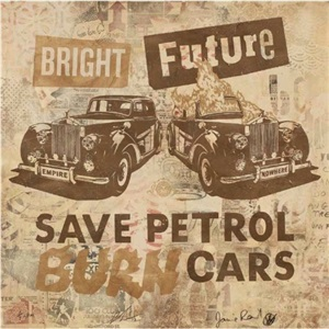bright future (bronze/copper) by shepard fairey and jamie reid