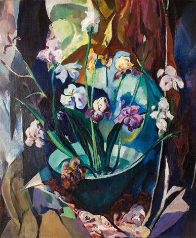 still life with irises by arthur beecher carles