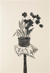 black tulips by david hockney