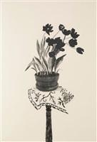black tulips by david hockney