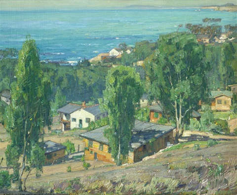 houses at arch beach by william wendt