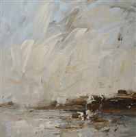 dark headland, wind in the sky by louise balaam