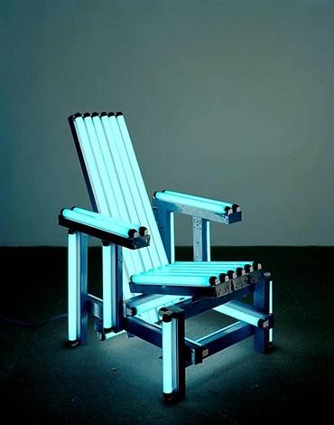 blue electric chair by iván navarro