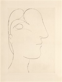 b0255 profil sculptural de marie-thérèse, 1933 (7 march, paris) by pablo picasso