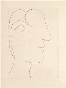 b0255 profil sculptural de marie-thérèse, 1933 (7 march, paris) by pablo picasso