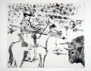 b0692 le picador , 1952 (18 june, paris) by pablo picasso
