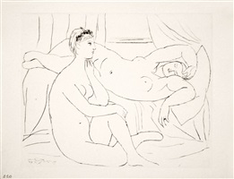 b0143 deux femmes se reposant (s.v. 10), 1931 (29 september, boisgeloup) by pablo picasso
