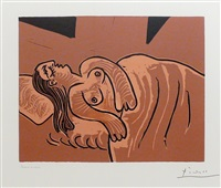 b1083 dormeuse, 1962 (5 april, mougins) by pablo picasso