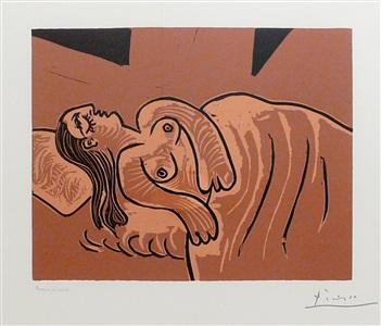 b1083 dormeuse, 1962 (5 april, mougins) by pablo picasso