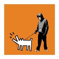 choose your weapon (dark orange) by banksy