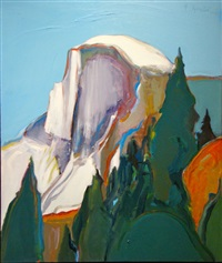 half dome yosemite by gregory kondos