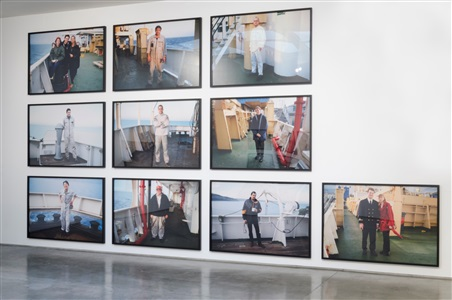 ship of fools installation view by allan sekula