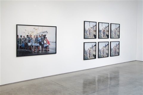 ship of fools, (installation view) by allan sekula