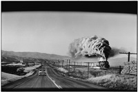 steam train press, wyoming, 1954 by elliott erwitt