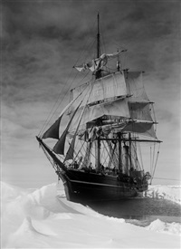 the terra nova held up in the pack, 13 december, 1910 (i) by herbert george ponting