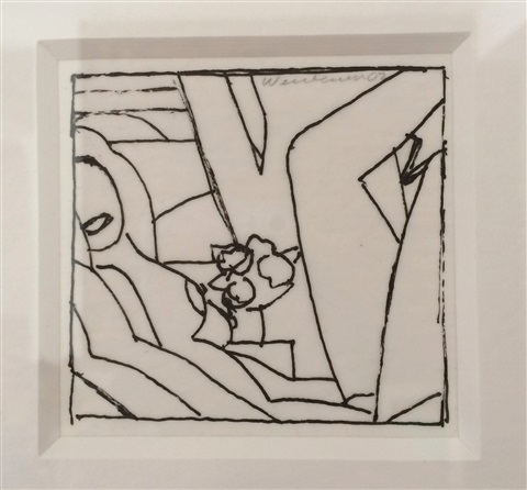 drawing for sunset nude (variation #3) by tom wesselmann