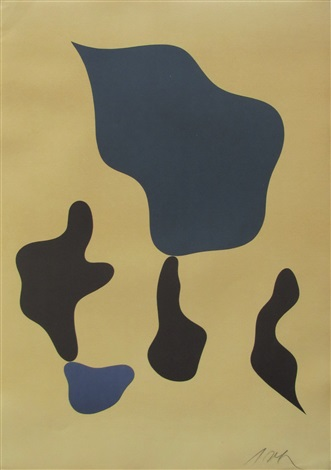 komposition mit funf formen by hans arp
