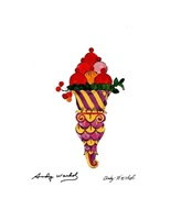 ice cream cone by andy warhol