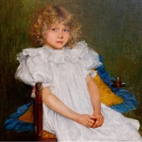 portrait of a young girl by anton filkuka