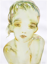 untitled (girl green) by kim mccarty