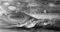 europa and jupiter's great red spot, voyager 1, march 3, 1979 by michael benson