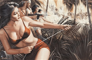 g.i. tiger-bandit of saipan by mort künstler