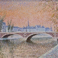 the seine and the pont marie, paris by serge mendjisky