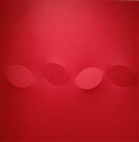 cinque ovali rosso by turi simeti