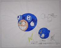 untitled (dob balloon study)	 by takashi murakami