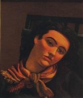 portrait de femme au foulard by andré derain